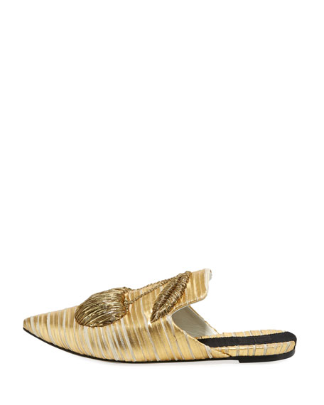 Cilegia Crackled Metallic Slipper