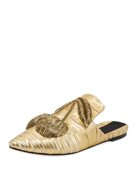 Sanayi313 Cilegia Crackled Metallic Slipper