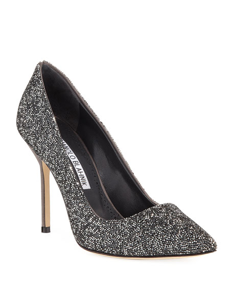 Bb Rock Crystal Encrusted 105mm Pump by Manolo Blahnik