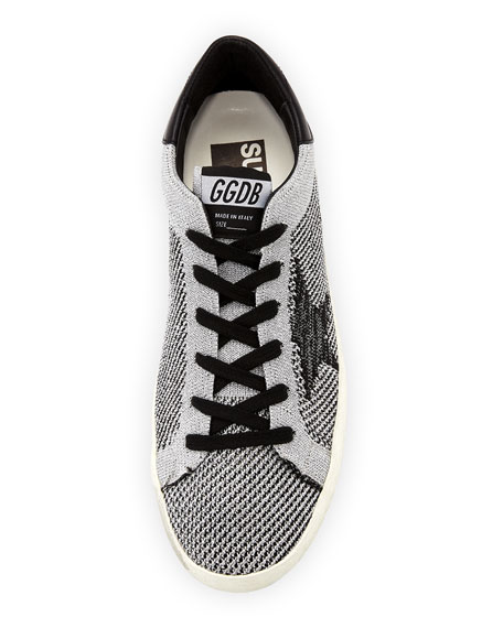 Superstar Knit Low-Top Sneakers, Silver