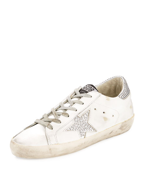 Superstar Crystal-Studded Low-Top Sneaker