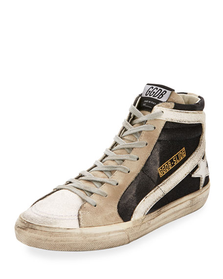 Golden Goose Glitter High-Top Star Sneaker