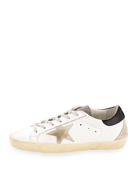 Superstar Glittered Leather Low-Top Sneakers