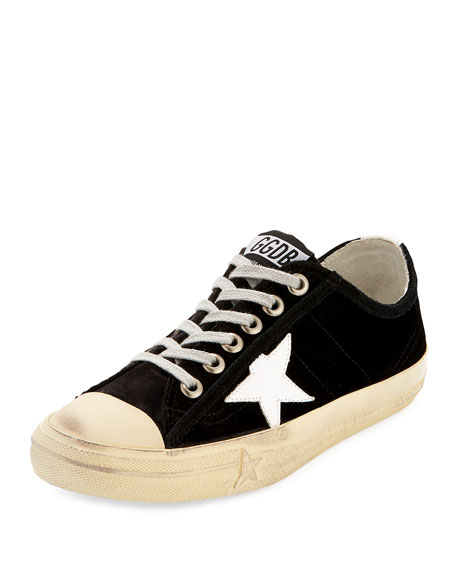 Golden Goose V Start 2 Velvet Low-Top Sneaker