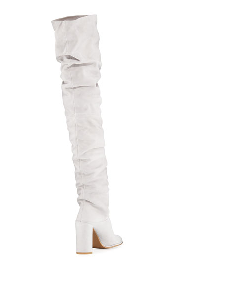 Histyle Slouchy Suede Over-The-Knee Boot
