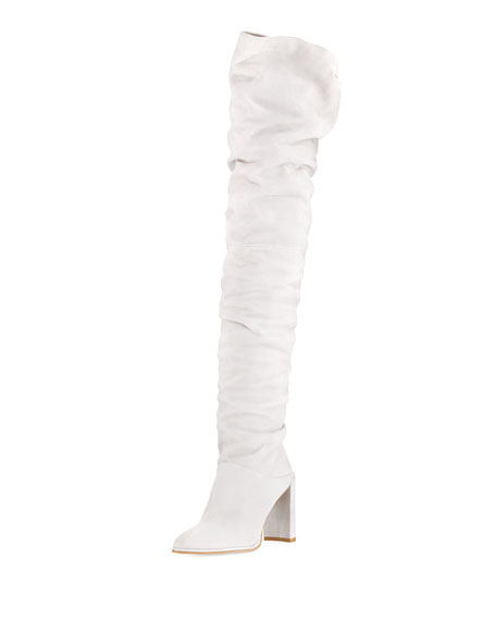 Stuart Weitzman Histyle Slouchy Suede Over-The-Knee Boot