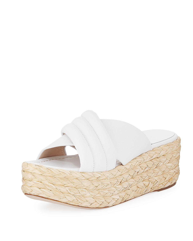 0ffc3f24ce62 Stuart Weitzman Pufftopraffia Woven Wedge Platform Sandal
