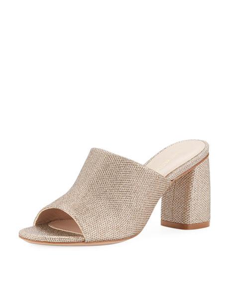 Stuart Weitzman Onevase Sparkle Fabric Slide Sandal