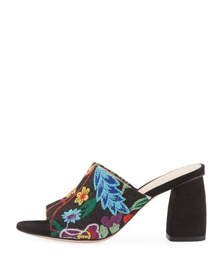 Onevase Embroidered Slide Sandal