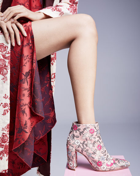 Pure Embroidered 90mm Bootie