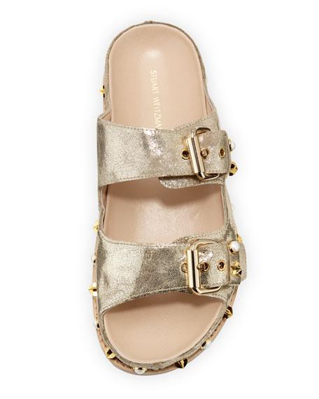 Sandbar Embellished Flat Slide Sandal