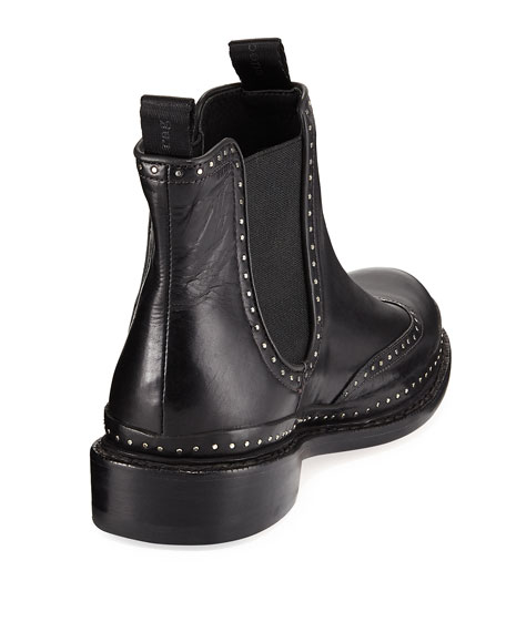 Benson Studded Leather Bootie