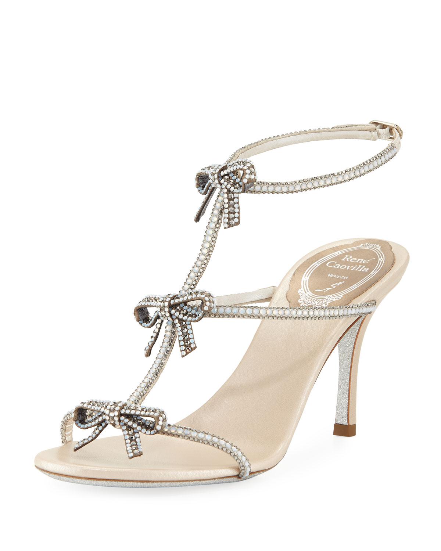 21eb69add3ead Rene Caovilla Bow Embellished 80mm Sandal