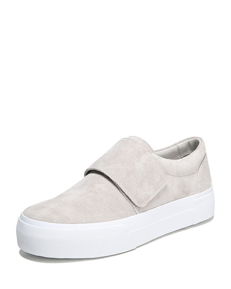 Cage Sport Suede Grip-Strap Sneakers
