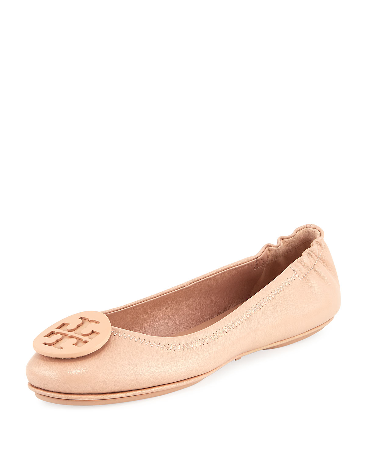 caa09c7a9 Tory Burch Minnie Travel Logo Ballet Flats