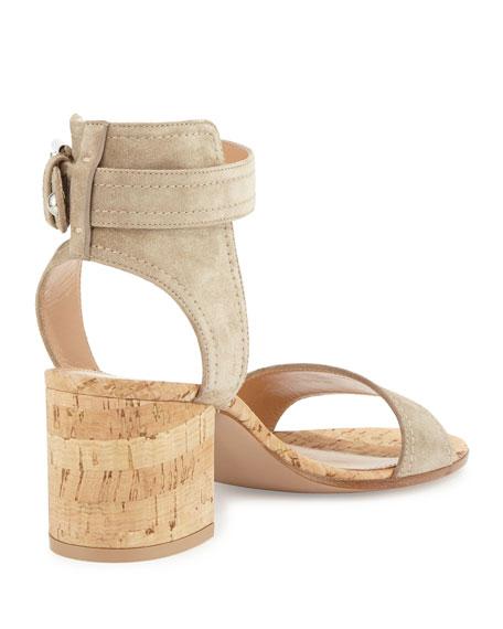 Rikki Low Suede 60mm Chunky-Heel Sandal