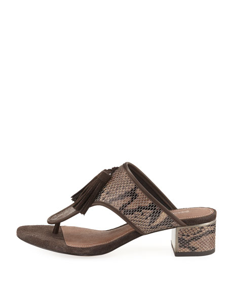 Tira Slide Tassel Sandal