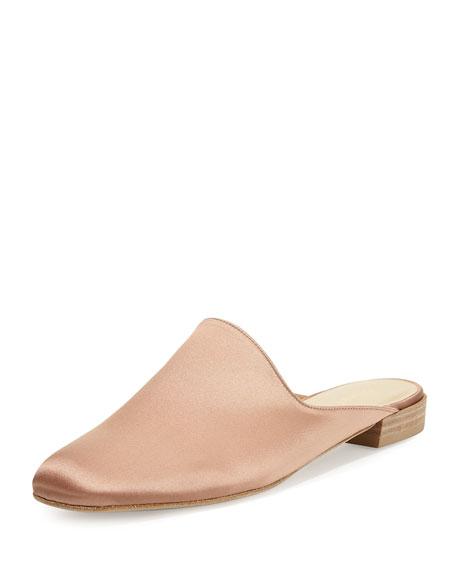 Mulearky Satin Slip-On Flat Mule