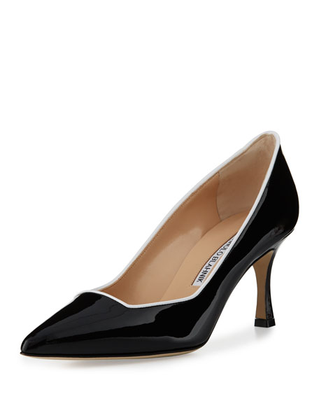 Manolo Blahnik Dizio Patent Pointed-Toe Pump