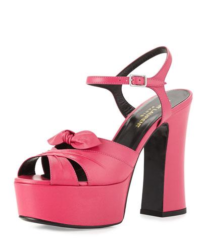 Candy Leather Platform Sandal
