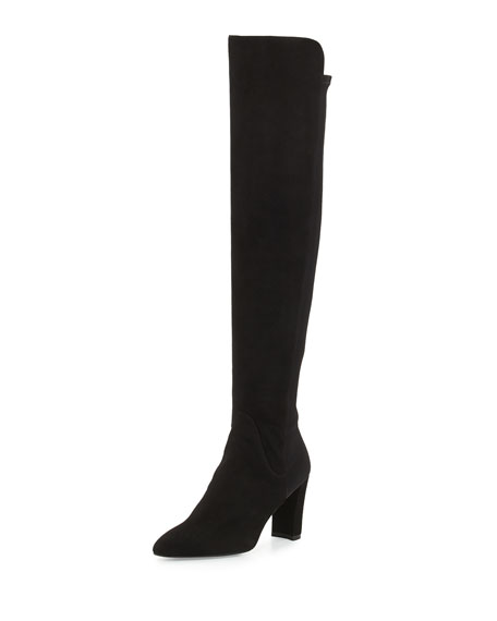 Stuart Weitzman Fiftymimi Stretch Over-the-Knee Boot, Black