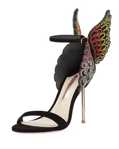 Evangeline Crystal Angel Wing Sandal