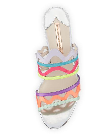 Mila Mid-Heel Zigzag Mule Sandal