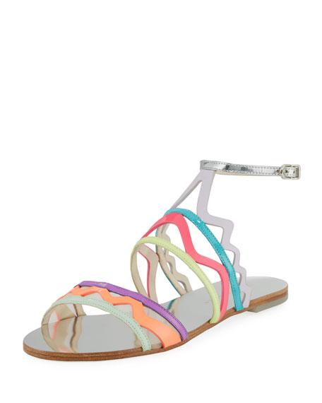 Sophia Webster Mila Zigzag Flat Sandal