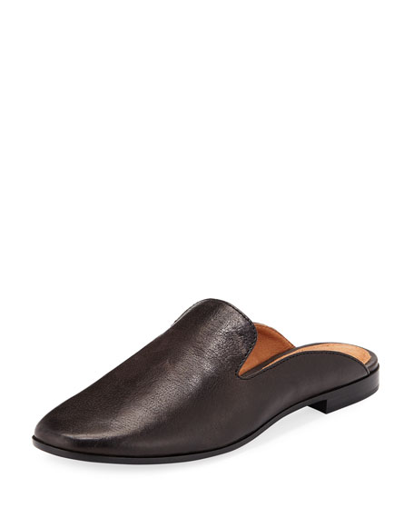 Frye Terri Leather Slide Mule, Smoke