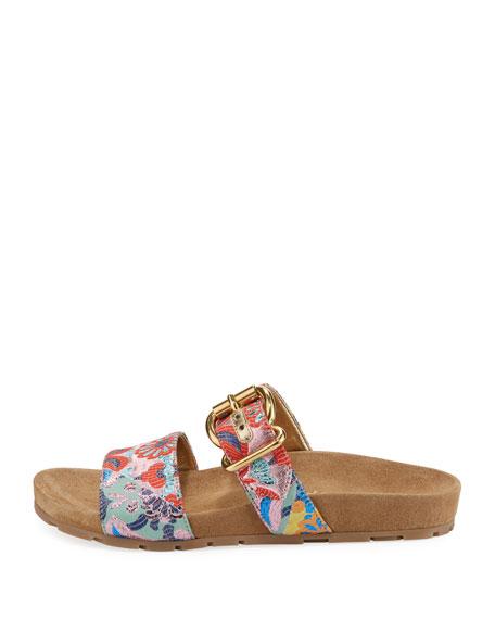 Jacquard Double-Strap 15mm Slide Sandal