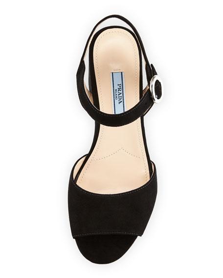 Suede Platform 65mm Sandal
