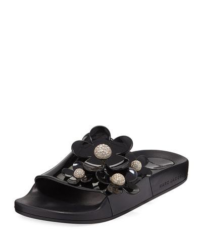 Daisy Pave Aqua Pool Slide Sandal