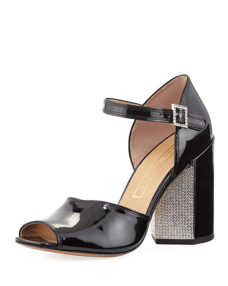 Marc Jacobs Kasia Strass Patent City Sandal