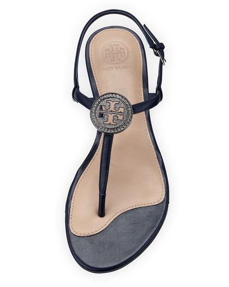 Liana Flat Embellished Thong Sandal