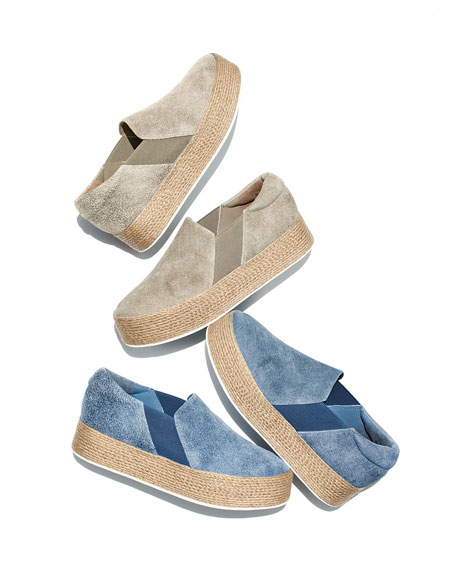 Wilden Flatform Stretch Espadrille Sneakers