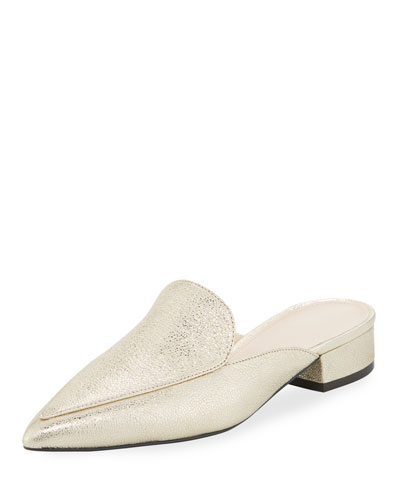 Piper Grand Metallic Crackled Mule