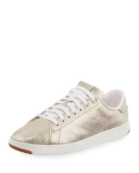 Cole Haan GrandPro Metallic Tennis Sneaker, Gold