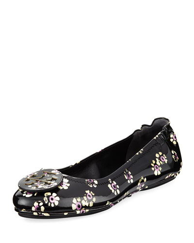 Minnie Stamped Floral Travel Ballerina Flat