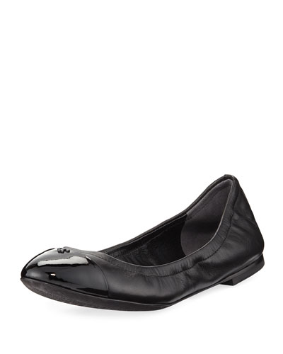 Shelby Leather Ballerina Flat
