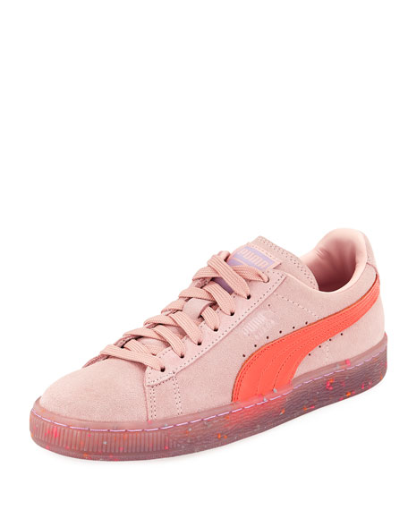 Puma x Sophia Webster Basket Suede Low-Top Sneaker,