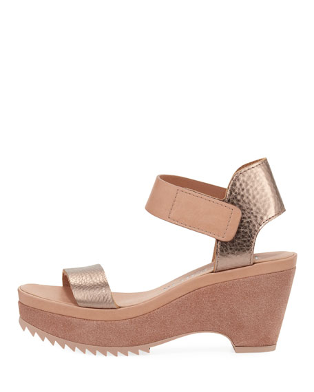 Franses Metallic Wedge Platform Sandal