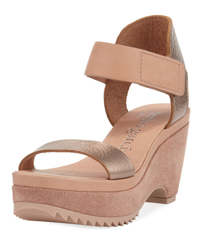 Franses Metallic Wedge Platform Sandal