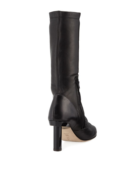 James Leather Mid-Calf Boot