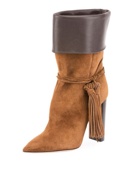 Tanger Mixed Leather Tassel Boot