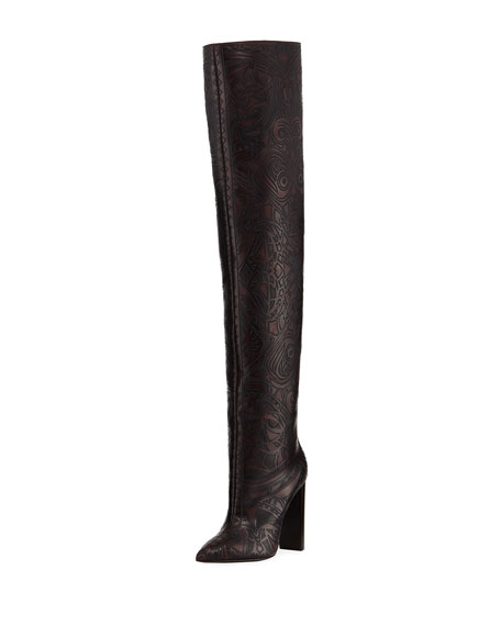 Saint Laurent Tanger Design Over-The-Knee Boot