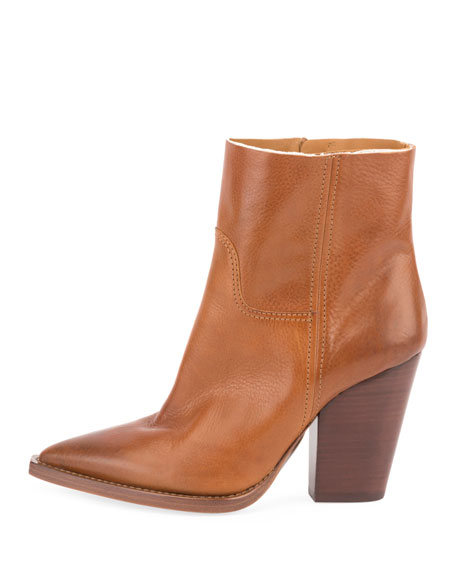 Theo Stitched Calfskin Ankle Boot