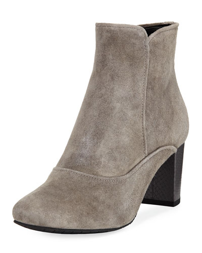 Paisley Fashion Suede Bootie, Carbon