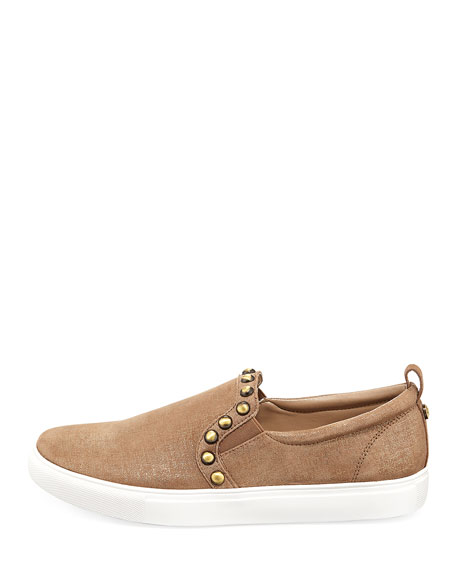 Sylvia Metallic Leather Slip-On Sneaker