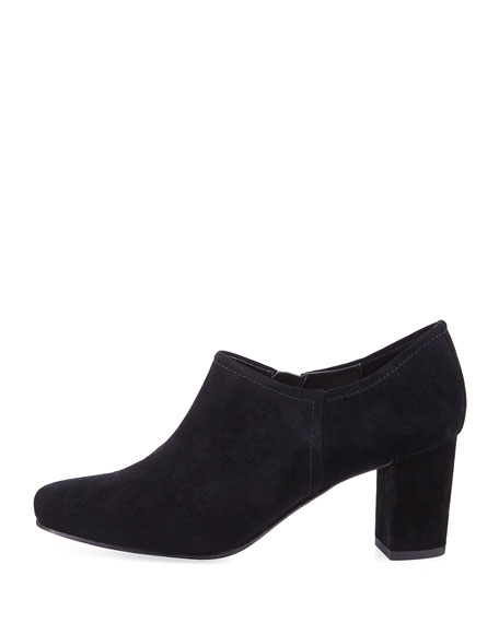 Patty Suede Stitched Ankle Bootie