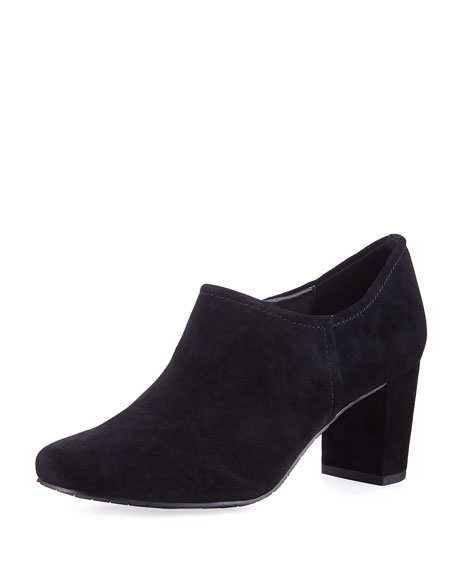 Donald J Pliner Patty Suede Stitched Ankle Bootie